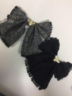 74287155f84 Tweed Bowtie Mono Corbatin Bow Bowbrooch Bow Brooch No Chino en Mercado  Libre México