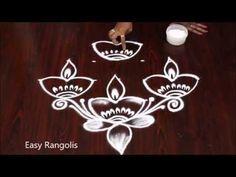 Diwali Rangoli with dots Mehndi Designs Book, Rangoli Designs Flower, Small Rangoli Design, Rangoli Designs Diwali, Rangoli Designs With Dots, Rangoli With Dots, Beautiful Rangoli Designs, Simple Rangoli, Diwali Drawing