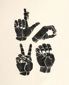 Sign Language Love Print  The real ASL spelling of LOVE See our amazing American Sign Language Fonts at http://www.teacherspayteachers.com/Product/American-Sign-Language-Style-Font-Family-531193