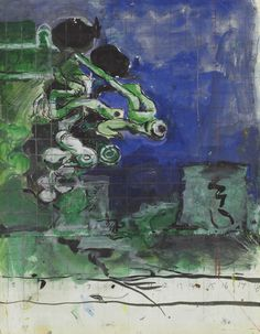 Graham Sutherland, O. , Study for 'Landscape with Ruin' British Artists, Gouache, Graham, Abstract Art, Study, Landscape, Illustration, Green, Studio