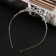 2017 New Cute Heart Princess Crown Tiara Rhinestone Corona Diadem Hairwear Hair Jewelry Lovely Wedding Girls Bridesmaid Headband