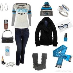 Carolina Panthers Women s Knit High-End Button Boot Slippers ... 7c9476ca71ce