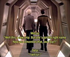 I loved this moment so much. (McCoy aboard the USS Enterprise-D pilot episode) Star Wars, Star Trek Tos, Uss Enterprise D, Star Trek Universe, Marvel Universe, Sci Fi Shows, Star Trek Original, Star Trek Voyager, Firefly Serenity
