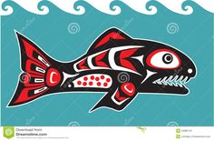 Fish - Salmon - Native American Style - Download From Over 36 Million High Quality Stock Photos, Images, Vectors. Sign up for FREE today. Image: 22888745