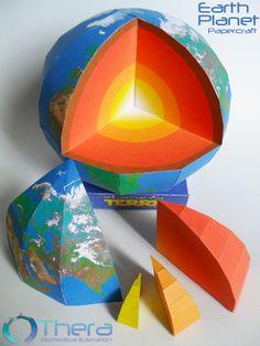 Earth papercraft by Shinaig.deviantart.com on @deviantART