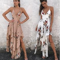 Bohemia Sleeveless Floral Print Beach Long Dress. Plus free shipping to worldwide.