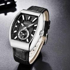 Jellegzetes formájú, elegáns Benyar férfi karóra. A szögletes ezüst színű óratok számlapja fekete ezüst színű, szőtt mintás. Watches, Accessories, Wristwatches, Clocks, Jewelry Accessories