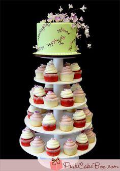 Cherry Blossom Wedding Cupcake Tower