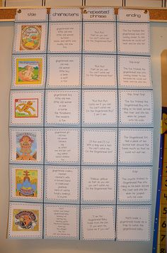 You know how we were just talking about comparing and contrasting different versions of the Gingerbread Man story?} gingerbread man chart that features six. Kindergarten Language Arts, Kindergarten Lessons, Kindergarten Reading, Teaching Reading, Kindergarten Christmas, Teaching Ideas, Teaching Tools, Kindergarten Classroom, Learning