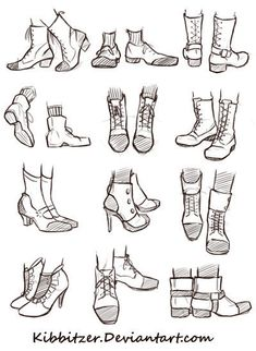 Shoes Reference Sheet | Drawing References and Resources | Scoop.it