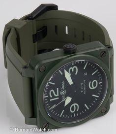 Bell & Ross - BR 03-92 Military Ceramic : BR0392-CERAM-MIL : Bernard Watch