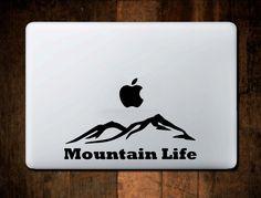 Mountain Life Range Decal MacBook Vinyl for Car Truck Laptop Window Sticker by NebraskaVinyl on Etsy