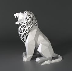 Roaring Lion by FORMBYTE on Shapeways. 3d Printing Diy, 3d Printing Service, 3d Printer Designs, 3d Printer Projects, Origami, 3d Printed Objects, 3d Printed Art, Roaring Lion, Best 3d Printer