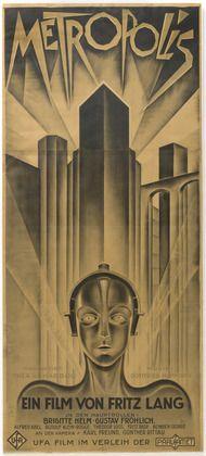 """Poster for Metropolis  Heinz Schulz-Neudamm (German, 1899-1969)    Publisher: UFA (Universum-Film-Aktiengesellschaft). Printer: Paul Grasnick, Berlin. 1926. Lithograph, 36 1/2 x 81"""" (92.7 x 205.7 cm). Gift of UFA (Universum-Film-Aktiengesellschaft)  80.1961.1"""
