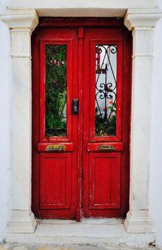 Naxos, Greece #red #door #myobsessionwithreddoors