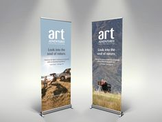 Roll-up trade show banner graphics would be lightweight and portable signage that takes up very little space. Rollup Banner Design, Rollup Design, Tradeshow Banner Design, Banner Vertical, Standing Banner Design, Banner Design Inspiration, Trade Show Design, Pop Up Banner, Cool Business Cards