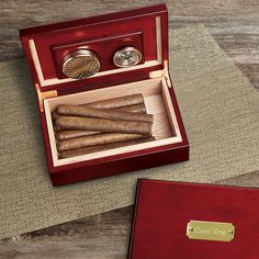 Cherry Wood Humidor for the groom, groomsmen or the Father of the Bride.