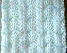 New Handmade Cream Knit Crochet Baby Afg - Diy Crafts Baby Afghan Crochet, Baby Afghans, Crochet Blanket Patterns, Knitting Patterns, Knit Crochet, Knitting Stiches, Crochet Summer, Knitting Projects, Baby Shawl