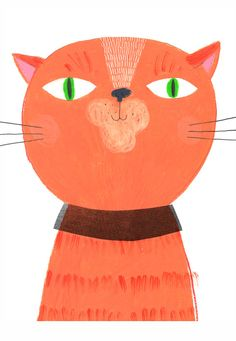 A3 CAT PRINT from my original illustration by sarahillustrator, $25.00