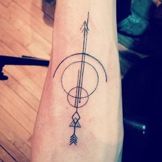 Bow and arrow tattoo design