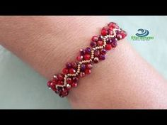 Easy beading pattern for bracelet(necklace) Easy Beading Patterns, Beading Tutorials, Jewelry Patterns, Bracelet Patterns, Beaded Bracelets Tutorial, Handmade Bracelets, Handmade Jewelry, Seed Bead Jewelry, Beaded Jewelry