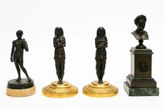 Green Marble, White Marble, Napoleonic Wars, Grand Tour, Michelangelo, Candlesticks, Egyptian, 19th Century, Auction