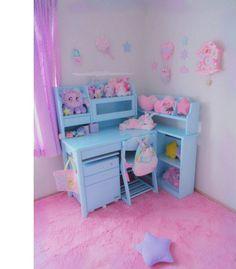 Cute Room Ideas, Cute Room Decor, Neon Bedroom, Bedroom Decor, Muebles Shabby Chic, Magical Room, Pastel Home Decor, Kawaii Bedroom, Otaku Room