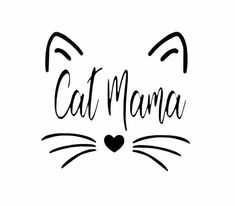 CAT MAMA vinyl decal sticker for DIY craft projects … car decal, laptop sticker, mug accent and more. Crazy Cat Lady, Crazy Cats, Mama Cat, Cat Signs, Face Stickers, Ideias Diy, Cat Quotes, Vinyl Wall Decals, Cat Decals