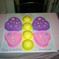 Cute idea for a little girls birthday cake