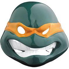 Michelangelo Vacuform Mask Adult Halloween Accessory