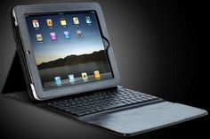 Bluetooth Keyboard Folio Case with Battery for i Pad Tablet Brown it ITIP-4000