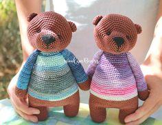 Items similar to Mr Brown Bear/Cute fluffy crochet bear/Stuffed Toy Bear/Bear Toy handmade by WoolyaBears/READY TO SHIP on Etsy Bear Toy, Teddy Bear, Crochet Bear, Cute Bears, Brown Bear, Handmade Toys, Children, Kids, I Shop