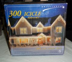 300 Icicle Add A Set 2 Sets of 150 Icicle Lights . $8.95