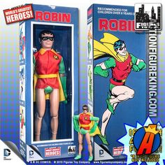 #DCComics 18-Inch Retro #ROBIN action figure based on the original 8-inch #Mego. #TeenTitans See more like this here… http://actionfigureking.com/list-3/figures-toy-company/8-inch-limited-edition-dc-superhero-two-packs/rtro-18-inch-dc-superhero-action-figures/dc-comics-retro-style-18-inch-robin-action-figure