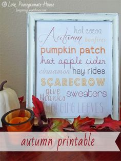 Mammamoiselle: 12 of the Best Free Fall Printables Autumn Crafts, Holiday Crafts, Autumn Art, Autumn Leaves, Bee Crafts, Decor Crafts, Fall Halloween, Halloween Crafts, Fall Cards