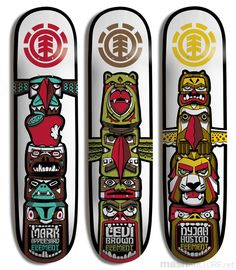 element totem series decks longboard designskateboard