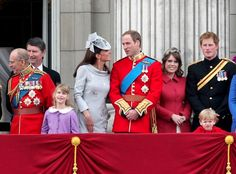 Who is the little boy in red in front of Harry??  Is he one of Lord Nicholas Windsor's son? or Lord Ulster or one of his sister's sons? Relive the Royal Moment: Trooping the Colour |