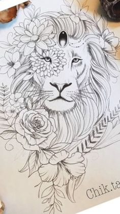 Leones If you are searching for a super companion pet dog, some sort of pug Leo Lion Tattoos, Tattoos Motive, Animal Tattoos, Body Art Tattoos, Pencil Art Drawings, Drawing Sketches, Tattoo Drawings, Tattoo Girls, Girl Tattoos