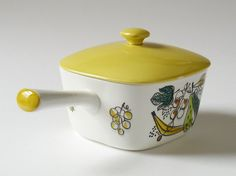 Vintage 1950s Handdecorated Swedish Pottery by NordicForm on Etsy, £30.00