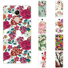 Phone Case for Xiaomi Redmi 4 Pro Cover 5.0 inch Transparent Ultra Thin For Redmi 4s Prime Shell Beautiful Flowers Pattern