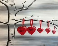 Browse our upcoming painting classes and events at Highlands Pinot's Palette! Reserve your seat for the best paint and sip experience today! Easy Canvas Painting, Heart Painting, Diy Canvas, Easy Paintings, Diy Painting, Painting & Drawing, Canvas Art, Canvas Paintings, Painting Classes