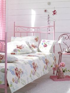 Garden Inspired Pink Bedroom