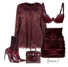 """""""Untitled #3362"""" by breannamules ❤ liked on Polyvore featuring Agent Provocateur, Hermès and Balenciaga"""