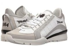 DSQUARED2 551 Sneaker (Silver) Men's Lace up casual Shoes