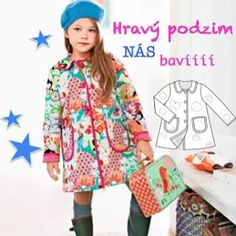 Burda Style mysli v rijnu i na nase deti, najdete v ni i luxusni kabatek pro holcicky! #BurdaStyle #burda #strihy #patterns #sewing #prodeti #barevnypodzim #deti #diy