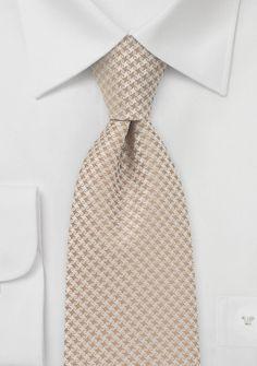 Dapper groom and groomsmen tie in Biscotti   |  Coordinates to David Bridal's Biscotti.