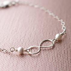 Sterling Silver Infinity & Swarovski Pearl by jjensenweddings