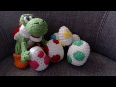 Spotted Yoshi Egg Crochet Tutorial Part 2 - YouTube