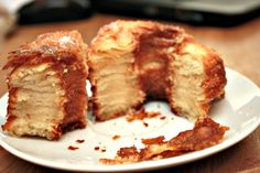 Cronuts Dough Ingredients 3/4 cups warm milk  1 tablespoon active dry yeast  1/3 cup sugar  2 large eggs  1 teaspoon vanilla  3 1/2 cups all-purpose flour (divided)  1 teaspoon salt  1 cup room-temperature butter Glaze Ingredients 1/2 cup powdered sugar  3 tablespoons pure maple syrup  1 to 2 tablespoons milk