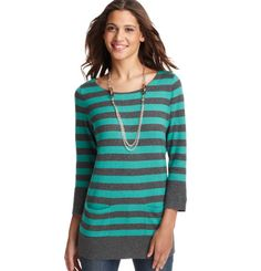 Loft - LOFT New Arrivals - Striped Tie Back 3/4 Sleeve Tunic